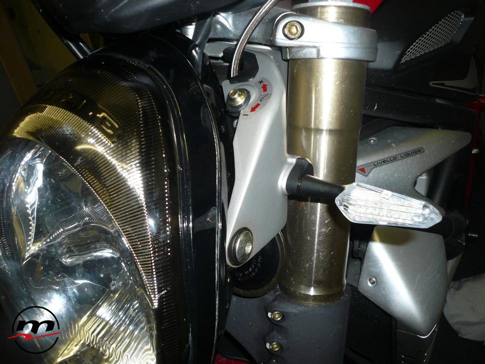 Adattatori frecce anteriori Melotti Racing per MV AGUSTA Brutale B4 fino al 2009
