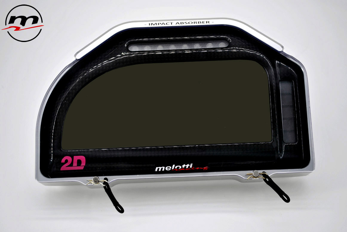 1- IMPACT ABSORBER - DASHBOARD COVER PROTECTION - 2D DATARECORDING - BIG DASH - MELOTTI RACING